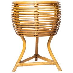 Woven Rattan Three Leg Planter