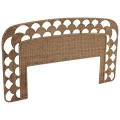 Woven Rattan Wicker Queen Size Headboard