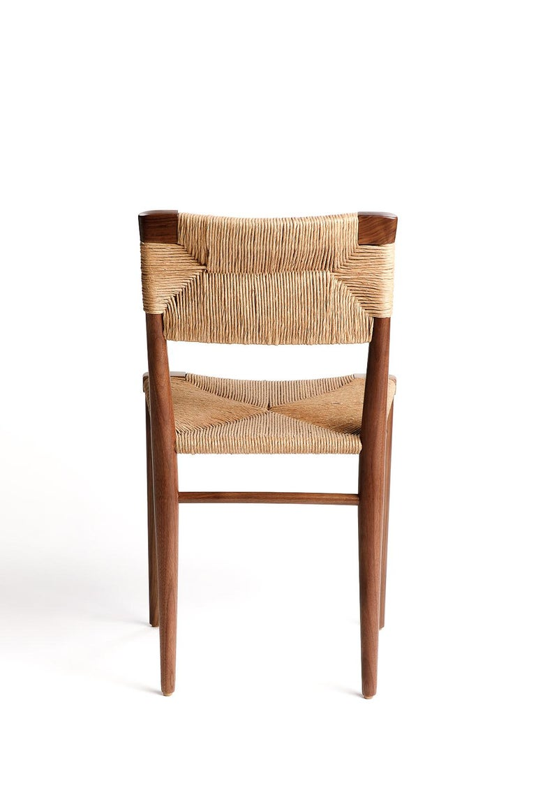 American Woven Rush-Backed Dining Side Chair by Mel Smilow For Sale