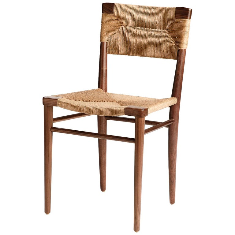 Woven Rush-Backed Dining Side Chair by Mel Smilow For Sale