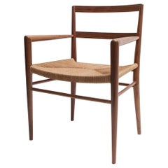 Woven Rush Dining Armchair by Mel Smilow