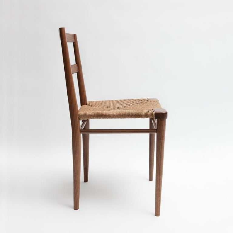 Mid-Century Modern Woven Rush Dining Side Chair by Mel Smilow For Sale