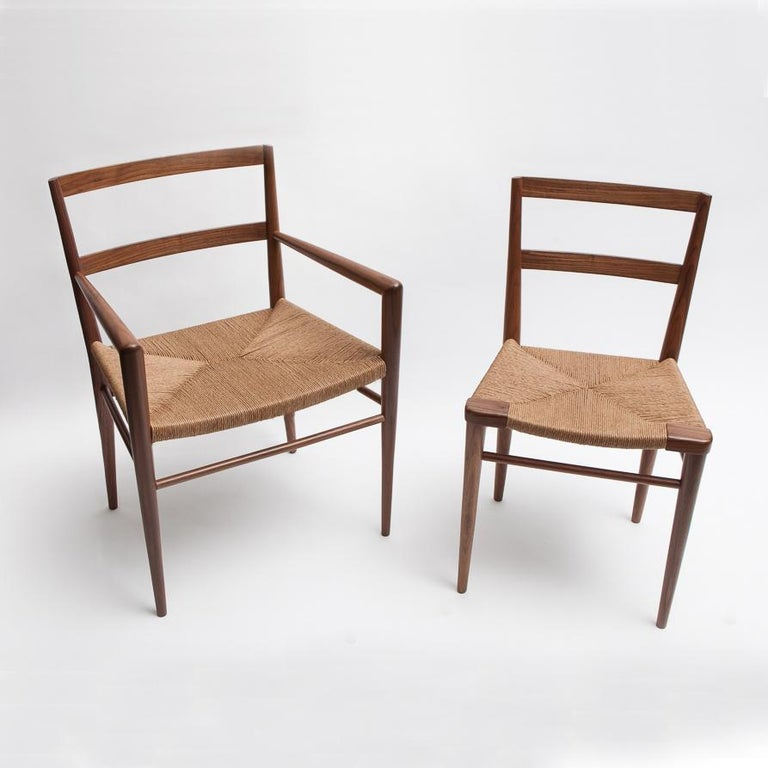 American Woven Rush Dining Side Chair by Mel Smilow For Sale
