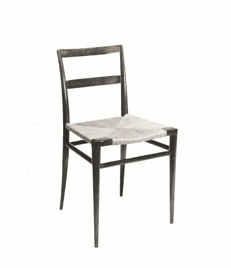 Woven Rush Dining Side Chair by Mel Smilow In New Condition For Sale In New York, NY