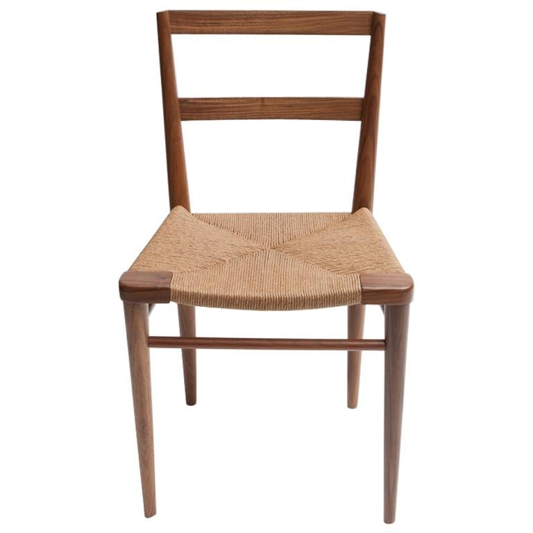 Woven Rush Dining Side Chair by Mel Smilow For Sale