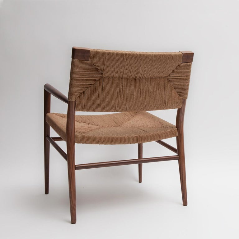 Mid-Century Modern Woven Rush Lounge Chair by Mel Smilow For Sale