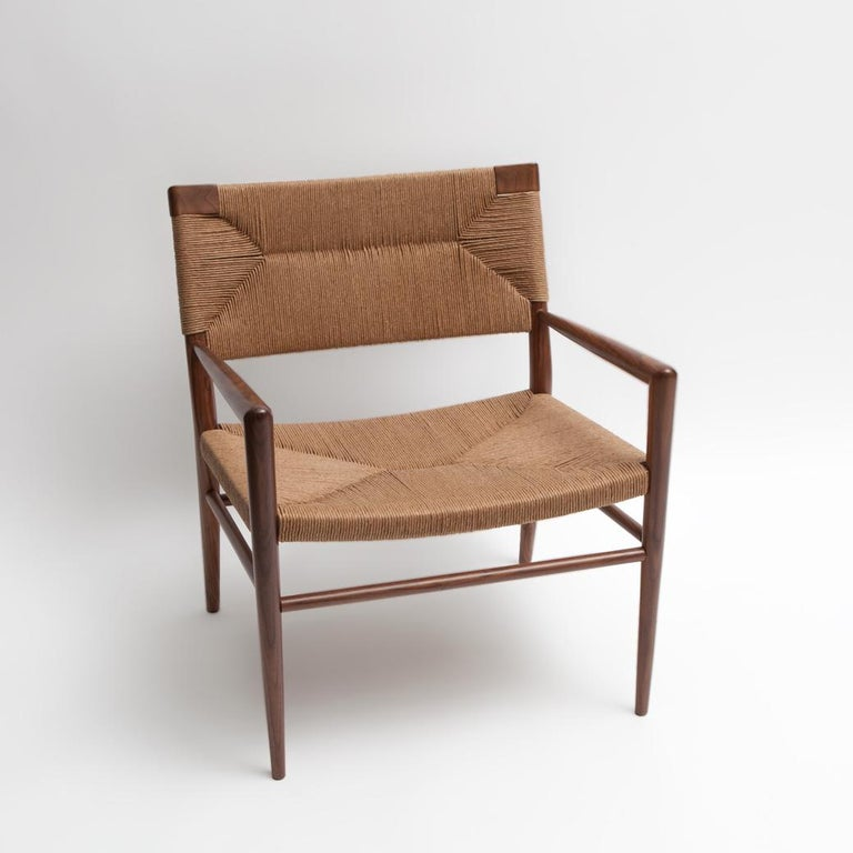 American Woven Rush Lounge Chair by Mel Smilow For Sale