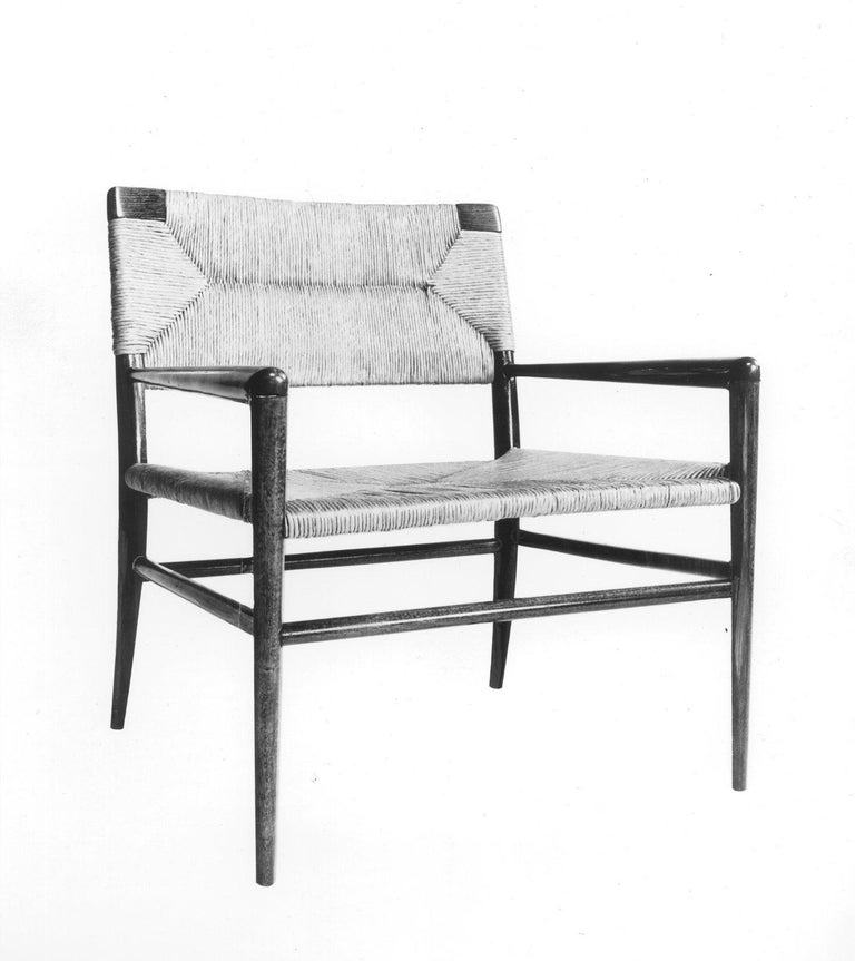 Contemporary Woven Rush Lounge Chair by Mel Smilow For Sale