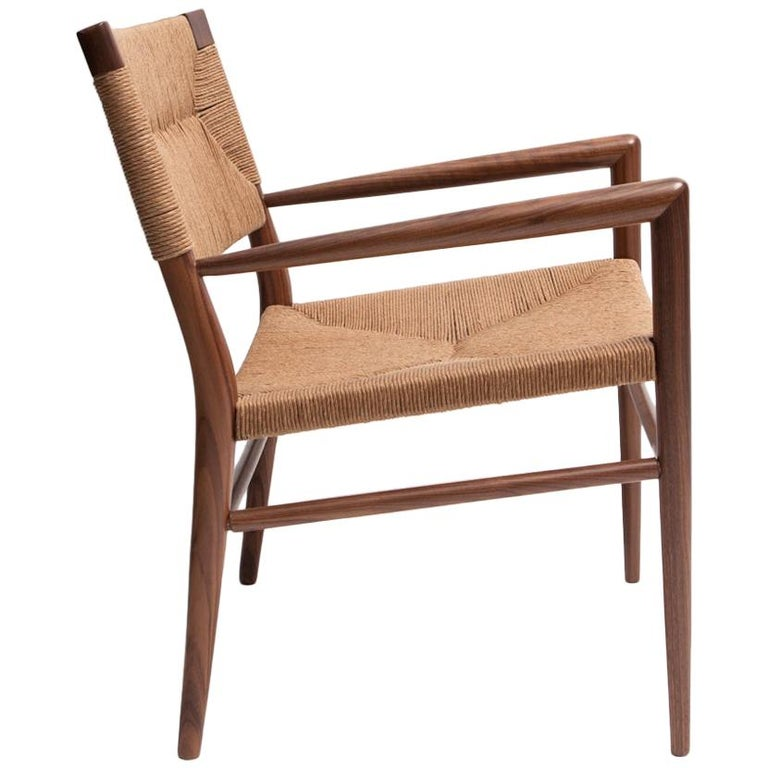 Woven Rush Lounge Chair by Mel Smilow For Sale