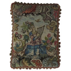 Woven Tapestry Cushion or Pillow in Aubusson style, French, 19th Century