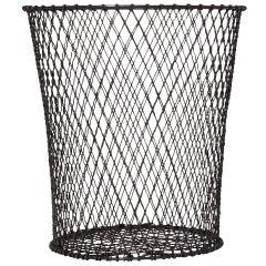Woven Wire Waste Paper Basket
