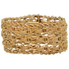 Woven Yellow Gold Bracelet