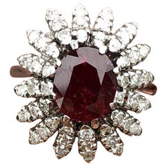 Wow 18 Karat Natural Ruby and Diamond Ring 3.00 Carat