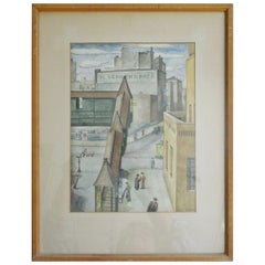 WPA Original Watercolor Painting, New York City, 1934 by WPA Artist Sewall