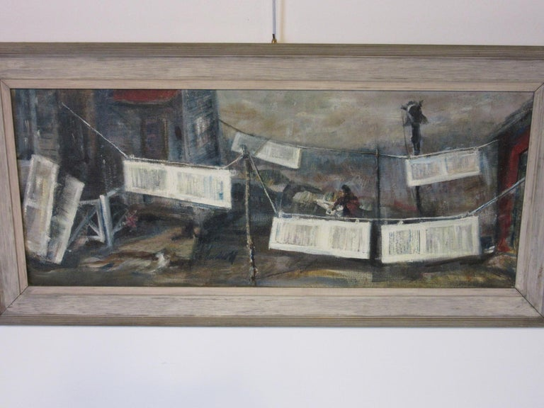 WPA Styled Painting by John Imhoff In Good Condition For Sale In Cincinnati, OH