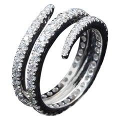 Wrap Around Diamond Fashion Ring in 18 Karat Gold