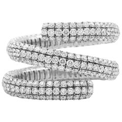 Wrap Around Flex Bangle Bracelet with Diamonds