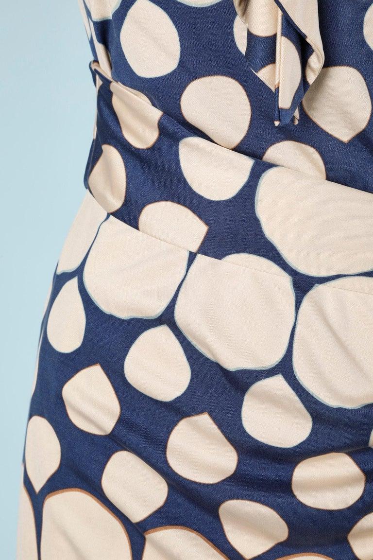 Wrap bustier silk printed dress Diane Von Furstenberg  In Excellent Condition For Sale In Saint-Ouen-Sur-Seine, FR