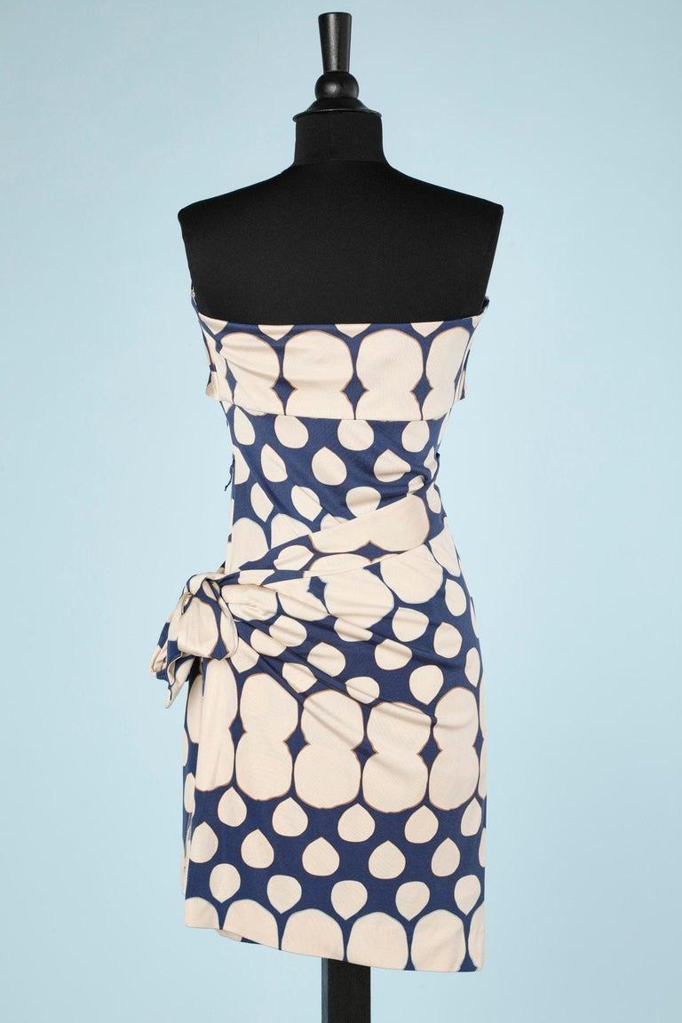 Wrap bustier silk printed dress Diane Von Furstenberg  For Sale 1