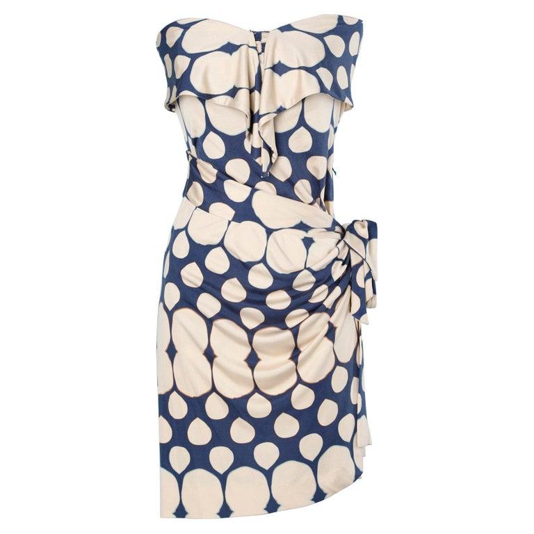 Wrap bustier silk printed dress Diane Von Furstenberg  For Sale