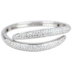 Wrap Pave White Gold Diamond Bangle