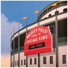 Wrigley Field, Original Painting by Lynn Curlee