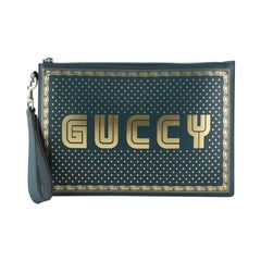 Wristlet Clutch Limited Edition Printed Leather