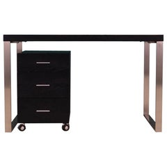 Writing Black Veneer Desk Vintage 1990s Scandinavian Design