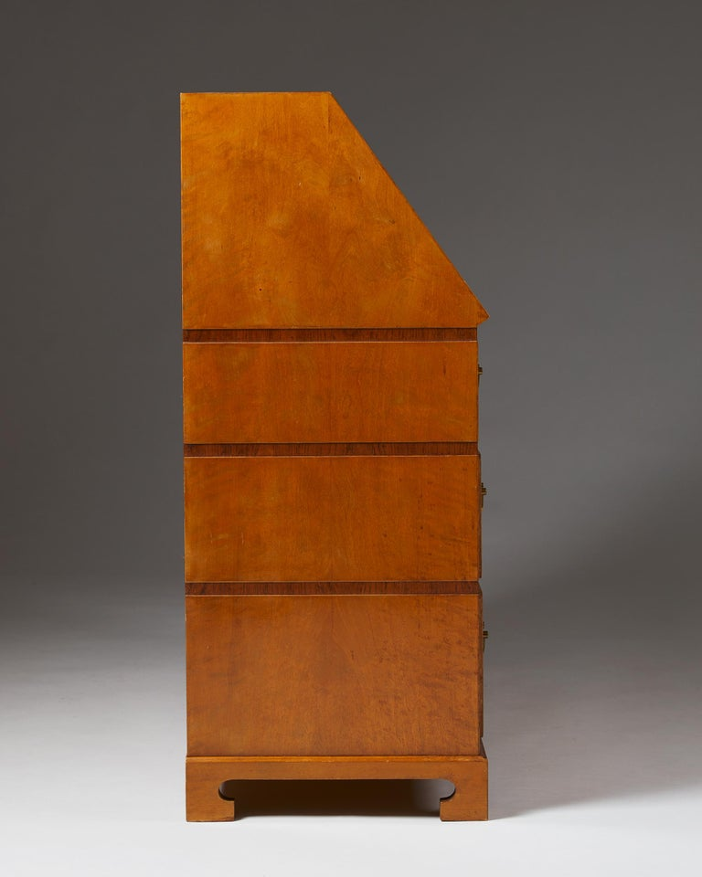 Writing Bureau Designed by Bruno Mathsson for Karl Mathsson, Sweden, 1934 In Excellent Condition For Sale In Stockholm, SE