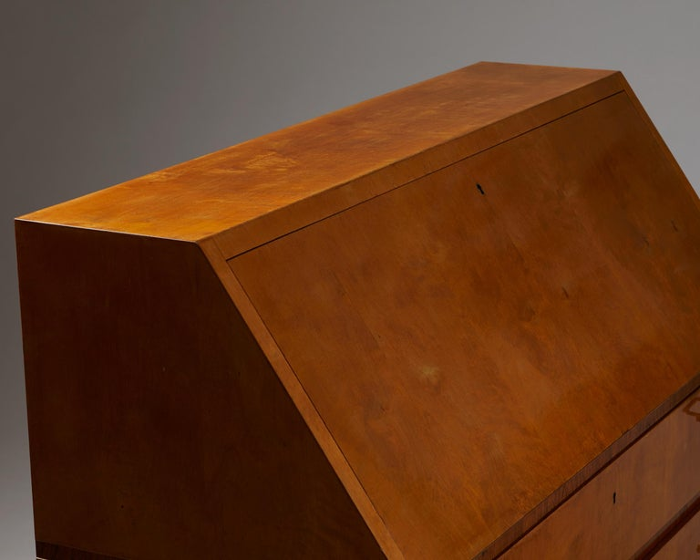 20th Century Writing Bureau Designed by Bruno Mathsson for Karl Mathsson, Sweden, 1934 For Sale