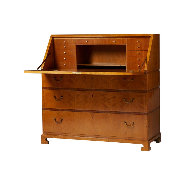 Writing Bureau Designed by Bruno Mathsson for Karl Mathsson, Sweden, 1934 For Sale