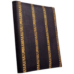 Writing Case Josef Hoffmann Leather Gold Embossed Wiener Werkstatte, circa 1924