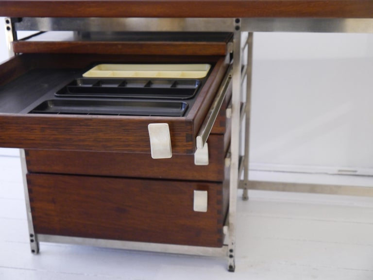 Belgian Writing Desk by Jules Wabbes for Foncolin in 1957 For Sale