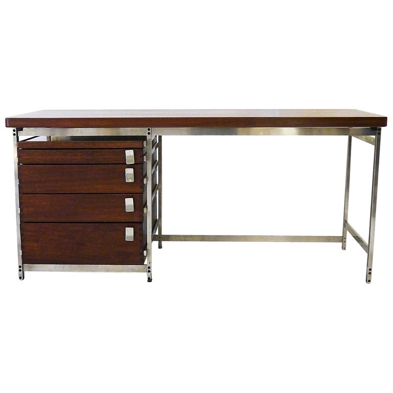 Writing Desk by Jules Wabbes for Foncolin in 1957 For Sale