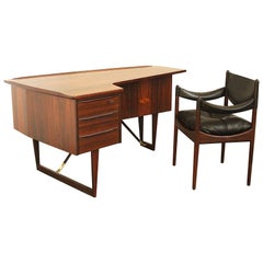 Writing Desk by Peter Lovig Nielsen for Hedensted and Kristian Vedel Chair