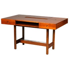 Mid Century Modern  fruitwood Writing desk by Saporiti