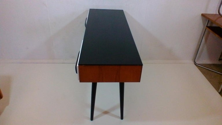 Mid-Century Modern Writing Desk Designed by Architect M. Požár, Retro Style Brusel, 1960s For Sale