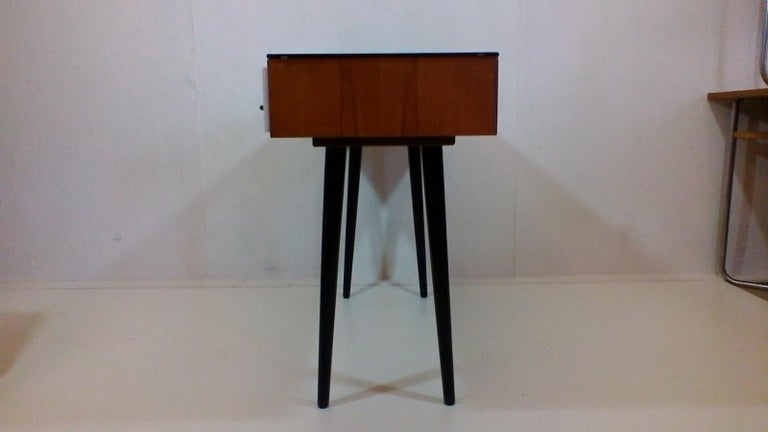 Czech Writing Desk Designed by Architect M. Požár, Retro Style Brusel, 1960s For Sale