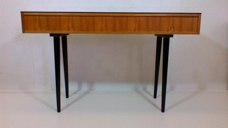 Writing Desk Designed by Architect M. Požár, Retro Style Brusel, 1960s In Good Condition For Sale In Praha, CZ