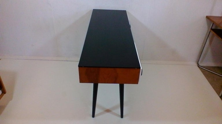 Mid-20th Century Writing Desk Designed by Architect M. Požár, Retro Style Brusel, 1960s For Sale