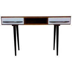 Writing Desk Designed by Architect M. Požár, Retro Style Brusel 1960s