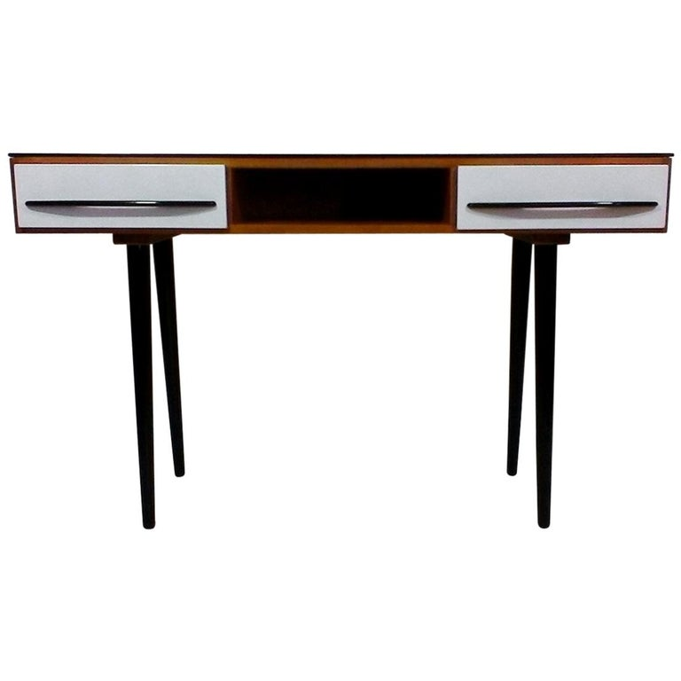 Writing Desk Designed by Architect M. Požár, Retro Style Brusel, 1960s For Sale