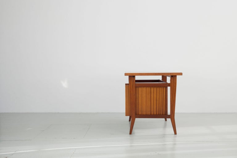 Wood Writing Desk Designed by Gio Ponti / Scirolli, Italy, 1960s For Sale