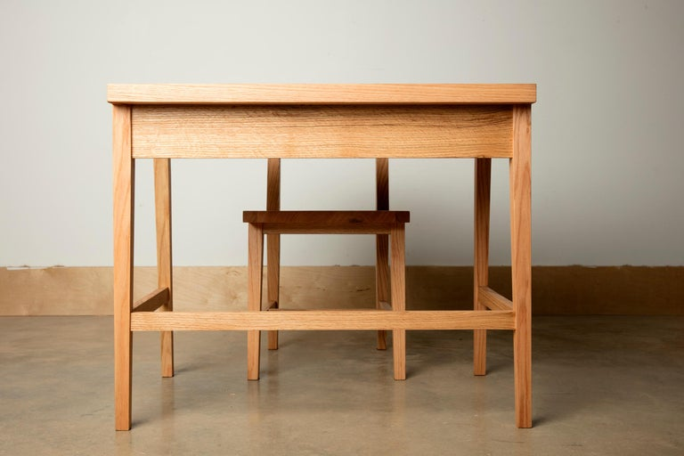 Writing or Computer Desk and Chair in Natural Oakwood by Alabama Sawyer For Sale 5