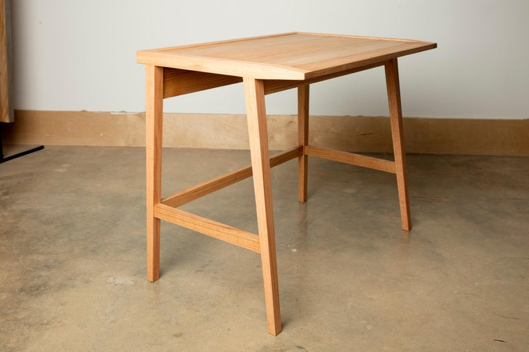 American Craftsman Writing or Computer Desk and Chair in Natural Oakwood by Alabama Sawyer For Sale