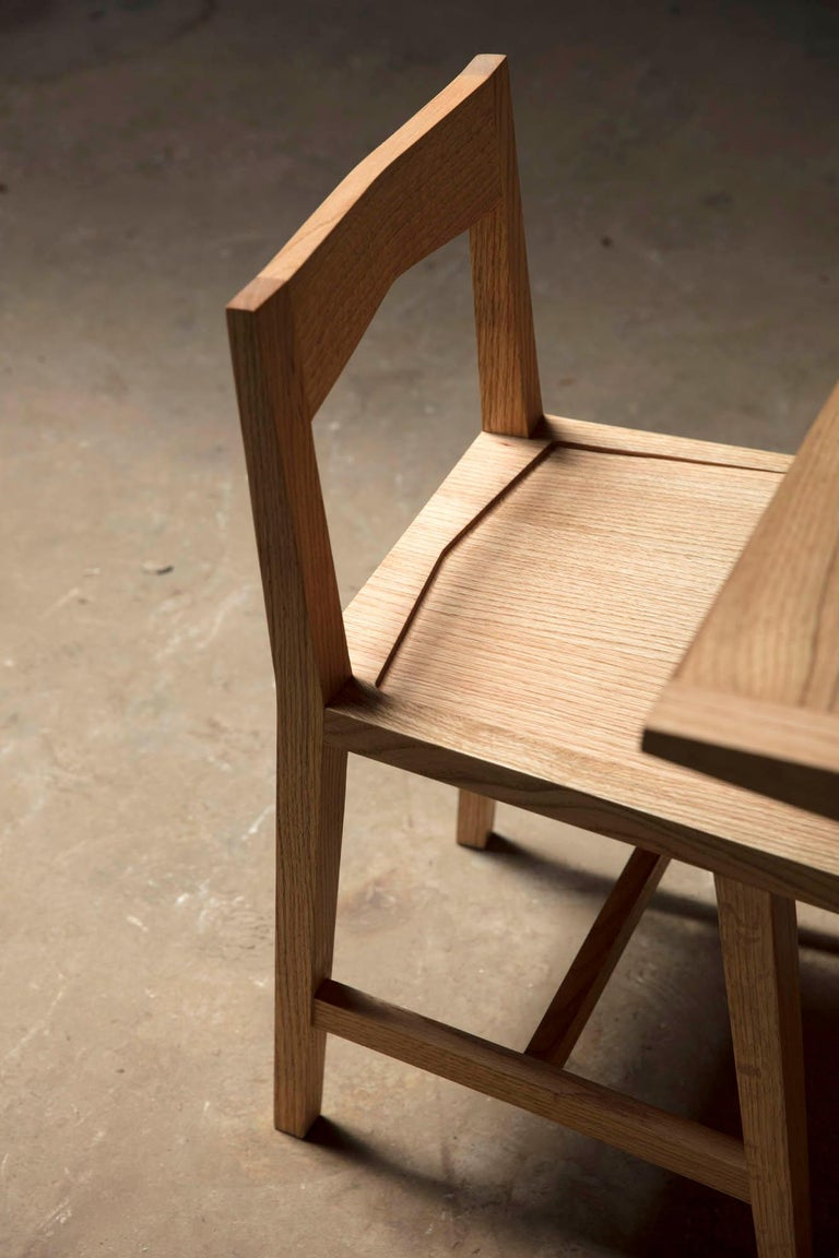 Writing or Computer Desk and Chair in Natural Oakwood by Alabama Sawyer For Sale 1