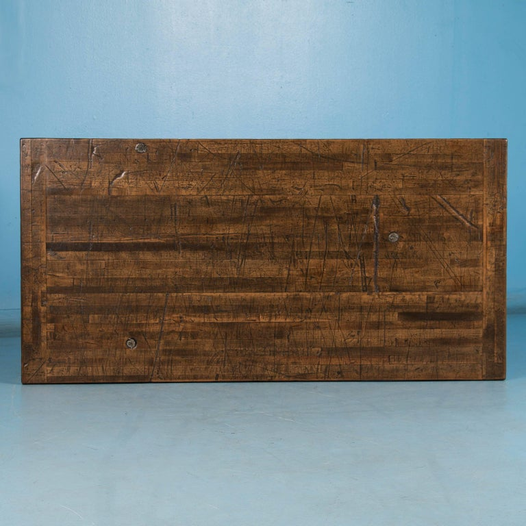 Writing Table Desk Made from Reclaimed Oak Flooring For Sale 1