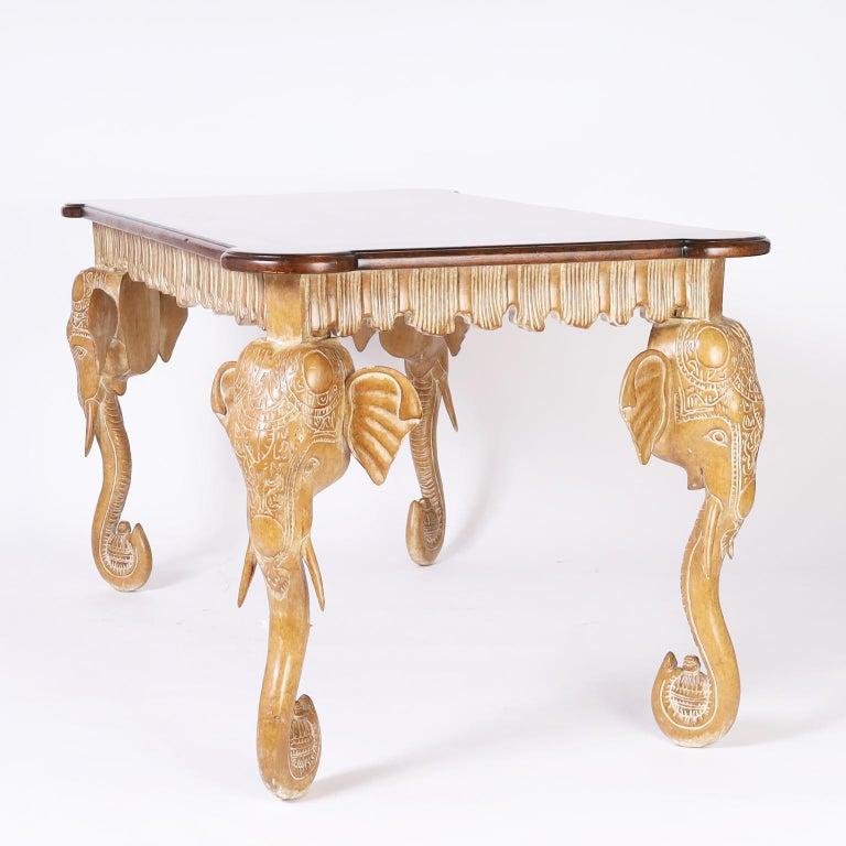 Italian Writing Table with Elephant Head Legs For Sale