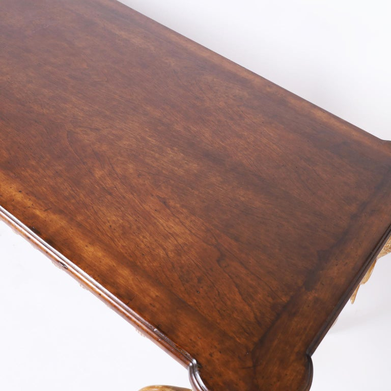 20th Century Writing Table with Elephant Head Legs For Sale