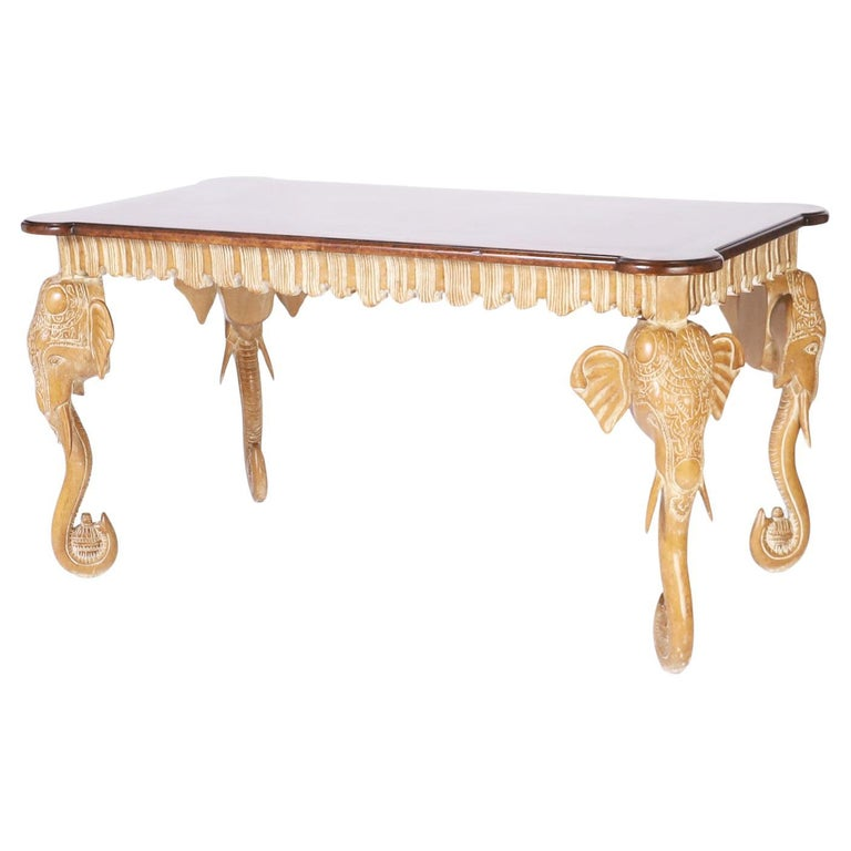 Writing Table with Elephant Head Legs For Sale